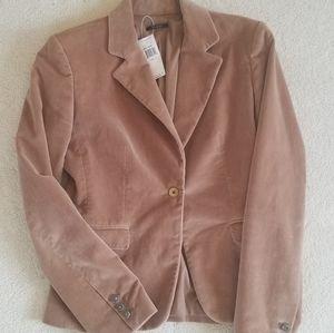 NWT Tahari Blush Pink/Nude Velvet Blazer Sz4